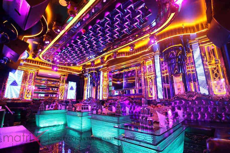 Mẫu phòng karaoke áp dụng màn hình led