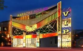 Thi công mặt tiền quán karaoke phong cách và hiện đại