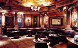 Phòng hát karaoke gia đình phong cách gỗ