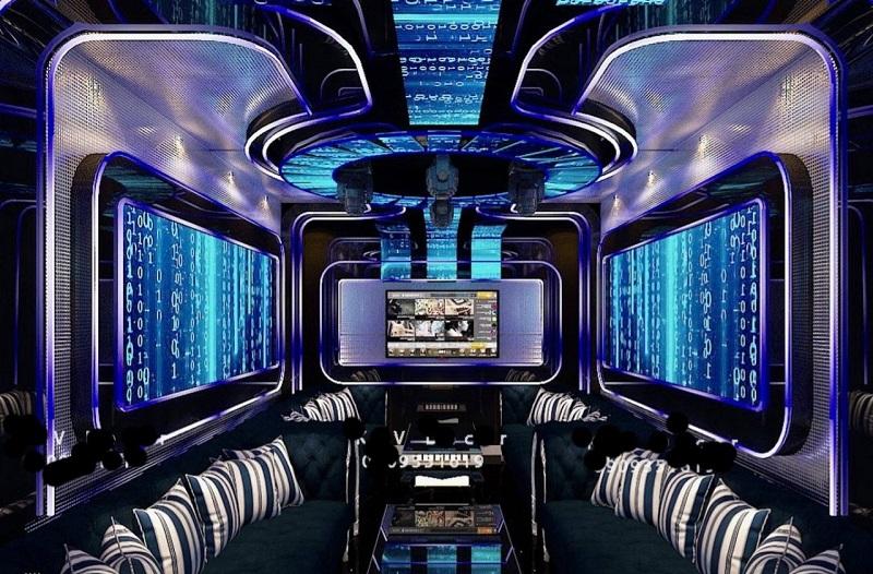 mẫu phòng karaoke hiện đại phong cách bar đẹp