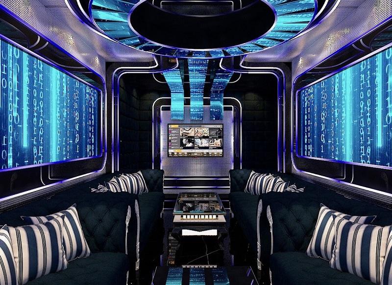 mẫu phòng karaoke hiện đại đẹp phong cách bar