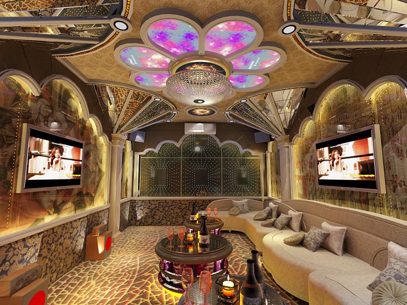 Mẫu phòng hát karaoke cổ điển đẹp