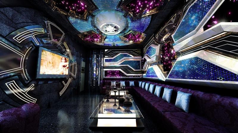 Phòng hát karaoke hiện đại ấn tượng