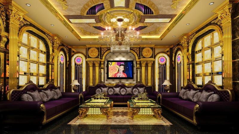Phòng karaoke tân cổ điển 30m2