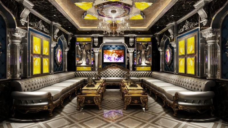 thiết kế phòng karaoke hoàng gia ở Bình Dương