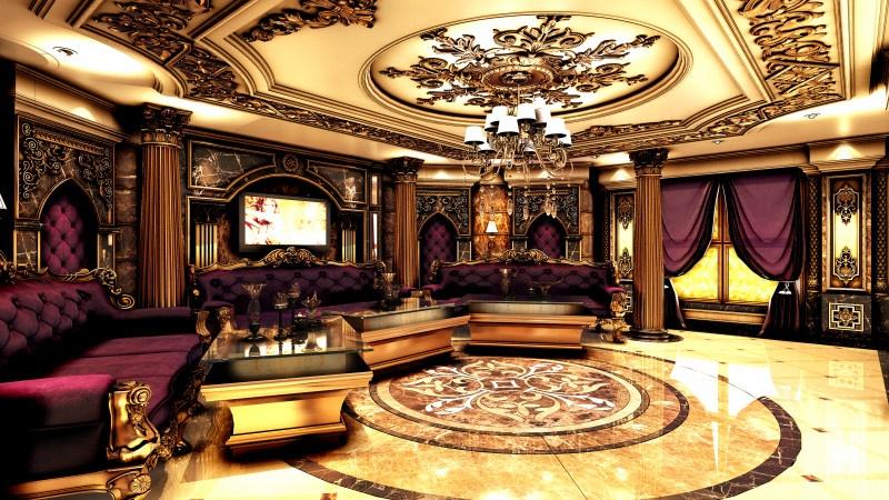 Mẫu phòng karaoke hoàng gia sang trọng
