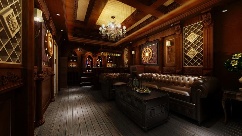 Mẫu phòng karaoke gia đình phong cách gỗ
