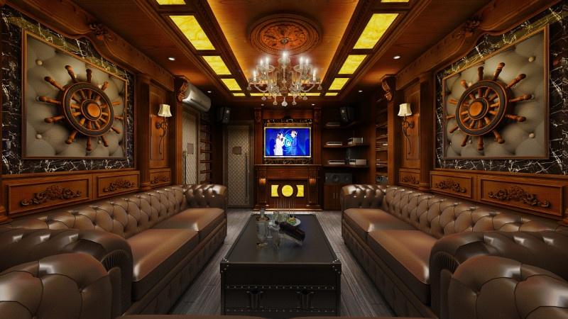 Mẫu phòng gỗ cho thiết kế karaoke gia đình