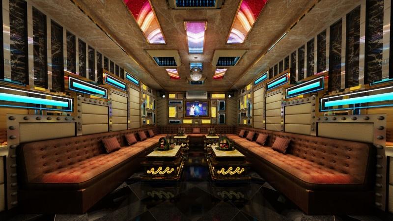 Phòng hát karaoke đơn giản đẹp