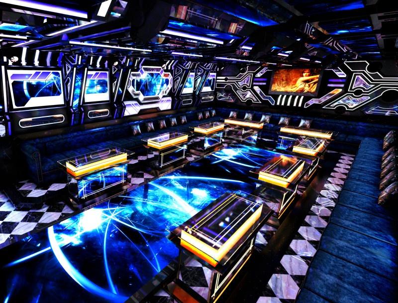 Phòng karaoke bar mini đẹp ấn tượng