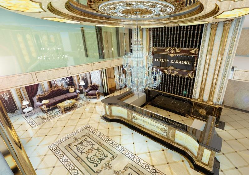 Góc nhìn từ trên cao sảnh karaoke Luxury tại Hai bà Trưng